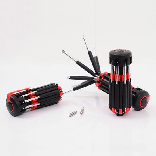 螺絲起子 螺絲刀 十字螺絲 一字螺絲 手電筒 LED燈 折疊 工具 DIY 八合一螺絲刀【Y050】慢思行