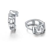 耳環 925純銀鑲鑽-V型線條生日情人節禮物女飾品73ia12【時尚巴黎】