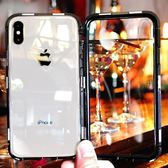 iphoneX手機殼蘋果Xs新款iphone Xs Max透明XsMax潮牌網紅x磁吸『櫻花小屋』