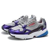 ADIDAS Originals FALCON灰 紫 白 老爹  休閒鞋 運動鞋 女 (布魯克林) DB2689