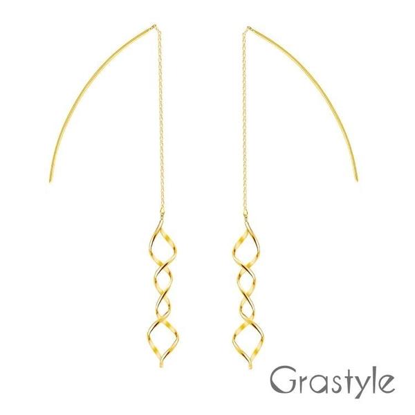 【南紡購物中心】歐莉寶GraStyle 10K垂墬造型耳環