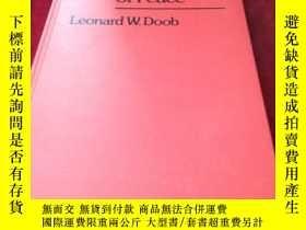 二手書博民逛書店The罕見Pursuit of PeaceY195258 Leonard W.Doob 出版1981