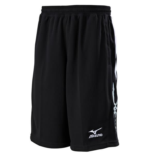 Mizuno  吸汗速汗 抗UV 針織短褲-黑 32TB600209