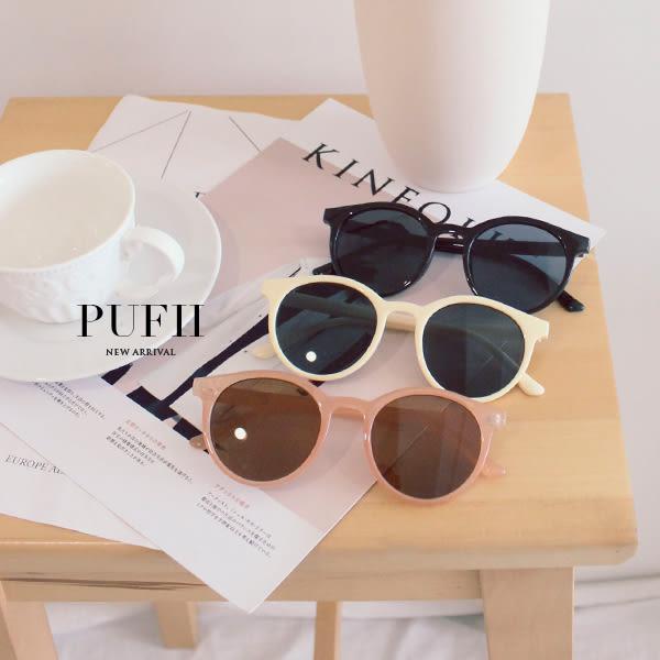 限量現貨★PUFII-眼鏡 膠框墨鏡太陽眼鏡-0328 現+預 春【CP16130】