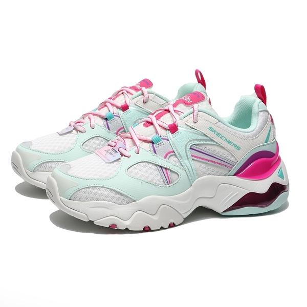 SKECHERS 慢跑鞋 DLITES 3.0 AIR SHES VIVID 粉綠 桃紅 休閒 女(布魯克林) 149261WTQP