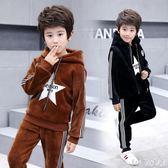 兒童男童套裝秋冬裝加厚小孩衣服加絨運動衛衣三件套 QG9936『Bad boy時尚』