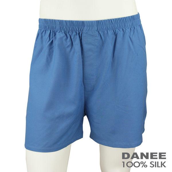 【岱妮蠶絲】DU6084H舒適休閒蠶絲短褲(藍灰)