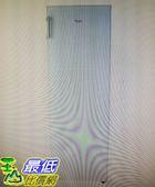 [COSCO代購] W112759 Whirlpool 193 公升直立式無霜冷凍櫃 WIF1193W