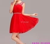 (45 Design) 訂製款 7天到貨洋裝 短禮服 蕾絲背心裙 繡花修身無袖 連身裙 小禮服15