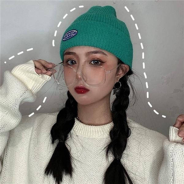2021新品促銷 新款網紅毛線帽加厚秋冬韓版百搭針織地主包頭冷帽情侶女