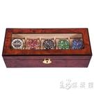 手錶盒收納盒帶鎖實木質錶盒高檔收納天窗簡約手串手鏈五錶位錶盒 小時光生活館
