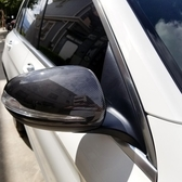 賓士改裝碳纖維照後鏡殼 新C/新E/S/GLC半包式卡夢後視鏡外殼