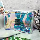 化妝包 新款鐳射透明化妝包小號可愛旅行防水洗漱包便攜收納大容量 巴黎春天