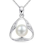 項鍊 925純銀珍珠吊墜-唯美素雅生日聖誕節交換禮物女飾品73fy94[時尚巴黎]