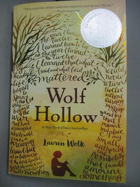 【書寶二手書T1/少年童書_HBZ】Wolf Hollow_Wolk, Lauren