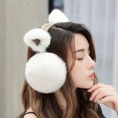耳罩保暖女耳暖冬季兒童日繫可愛可折疊【極簡生活館】