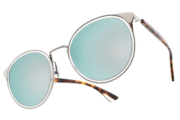 NINE ACCORD 水銀太陽眼鏡 KISSING-KARA C05 (銀-琥珀) 復古韓系 # 金橘眼鏡