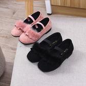 618好康鉅惠兒童單鞋公主鞋平跟方口防滑小女童鞋 東京衣櫃