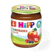 HiPP 喜寶 生機野莓蘋果泥125g【佳兒園婦幼館】