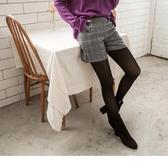 《BA4648》毛呢格紋側釦裝飾短褲 OrangeBear