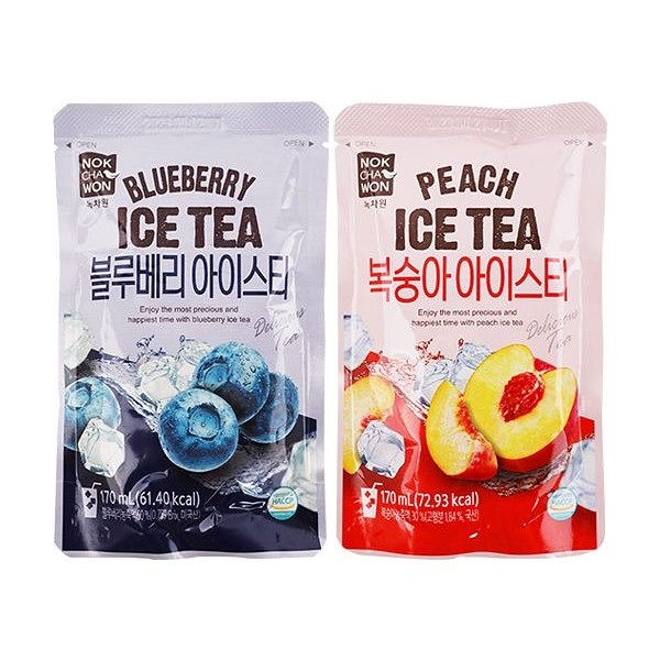 NOKCHAWON 藍莓/蜜桃 風味冰茶(170ml) 款式可選【小三美日】