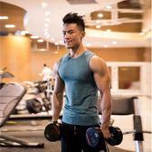 霸道肌肉春季夏健身背心男士訓練修身無袖緊身衣運動坎肩速干t恤