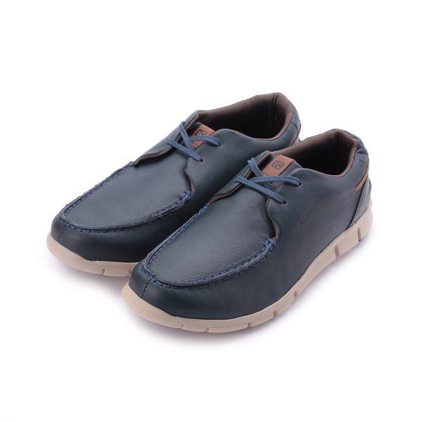 巴西KILDARE SOFT NAVY BLACK 軟皮繫帶休閒鞋 藍 BK6901-NA 男鞋