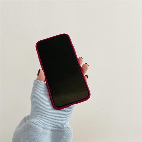 梅子紅純色 適用 iPhone12Pro 11 Max Mini Xr X Xs 7 8 plus 蘋果手機殼