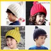 帽子 寶寶五色針織毛線尖頂螺旋護耳帽 套頭帽