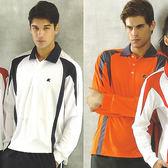 日本名牌 Kawasaki  男女吸濕排汗長POLO衫-橘#K225A1