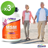 MSM 1000 (120顆/瓶)三瓶組 -NOW健而婷