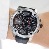DIESEL 啞光霧黑多時區腕錶 DZ7415 熱賣中!
