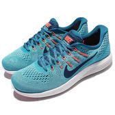【五折特賣】Nike 慢跑鞋 Lunarglide 8 藍 白 避震穩定 透氣鞋面 男鞋【PUMP306】 843725-406