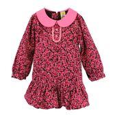 【愛的世界】甜心公主純棉玫瑰條絨長袖洋裝/4~6歲-台灣製- ★秋冬洋裝