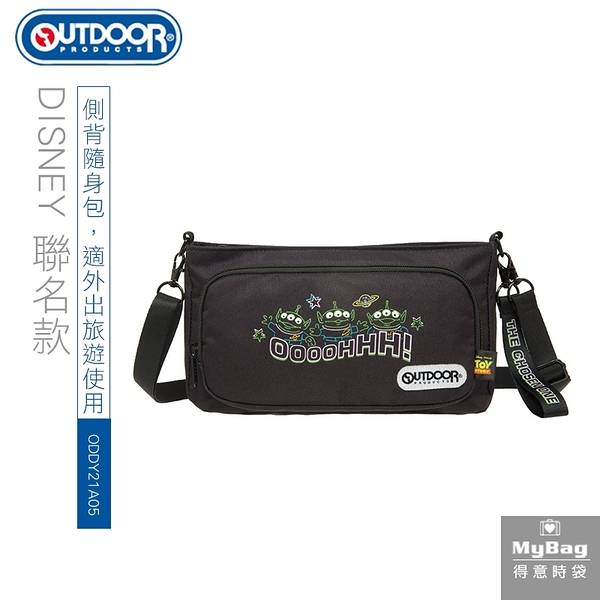 OUTDOOR x DISNEY 側背包 玩具總動員聯名款 TOYS 霓虹 三眼怪 小包 斜背包 ODDY21A06 得意時袋
