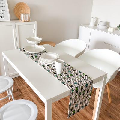 歲末清倉~時尚可愛空間餐桌布 茶几布 隔熱墊 鍋墊 杯墊 餐桌巾桌旗572 (30*160cm)