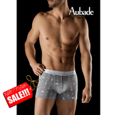 Aubade man-舒棉M-L平口褲(香水灰)