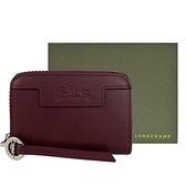 【南紡購物中心】LONGCHAMP LE PLIAGE NÉO系列防刮牛皮拉鍊零錢包(紫羅蘭)