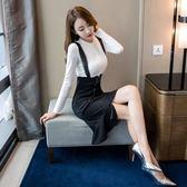 VK精品服飾 韓系氣質復古洋氣套裝長袖裙裝