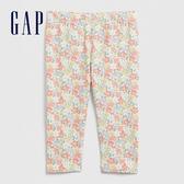 Gap女嬰童趣風格印花鬆緊腰休閒褲580456-霓虹粉