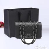 包包女包新款2潮時尚斜背小包斜背包百搭小香風菱格錬條包 黛尼時尚精品
