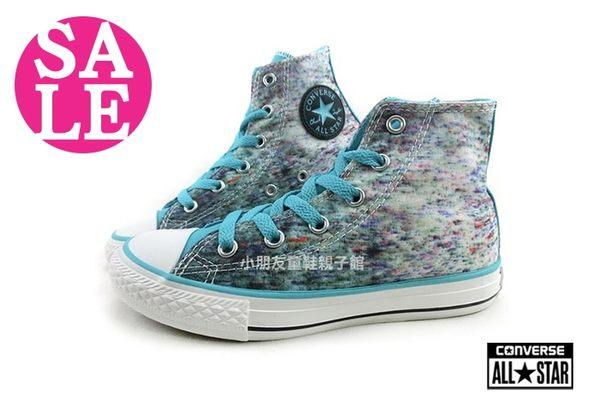 All STAR★Converse帆布鞋 中童 經典彩繪風 高筒休閒鞋 G9839#藍綠 零碼出清◆OSOME奧森童鞋