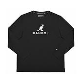 KANGOL 中性款黑色圓領長袖上衣-NO.6951100320