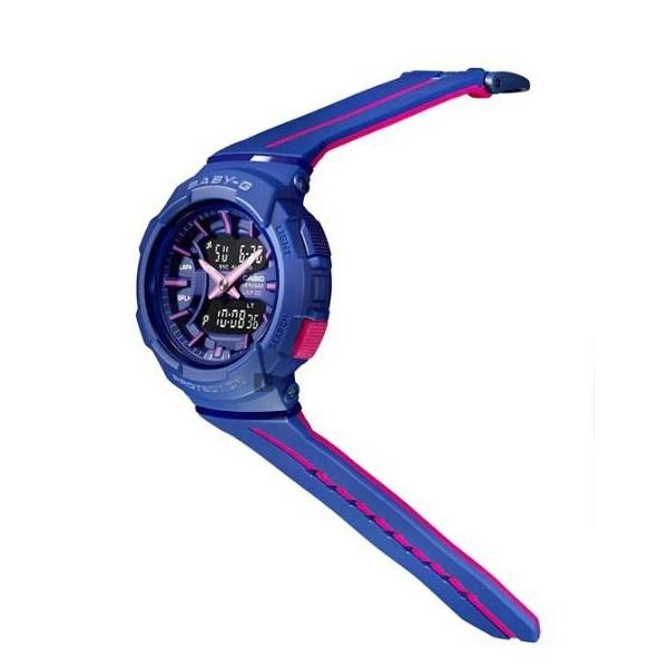 CASIO卡西歐 Baby-G 慢跑亮彩手錶-藍x桃紅 BGA-240L-2A1DR / BGA-240L-2A1