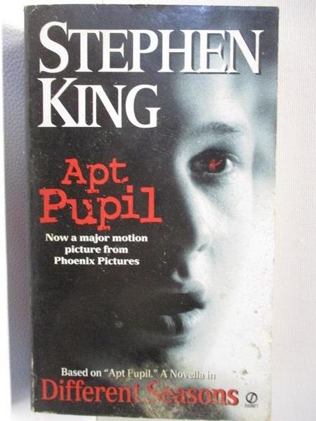 【書寶二手書T1/原文小說_CTY】Apt Pupil_Stephen King