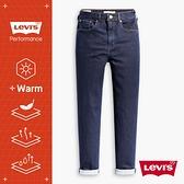 Levis 女款 高腰修身窄管牛仔長褲 / WARM JEANS 機能保暖內刷毛 / 原色水洗