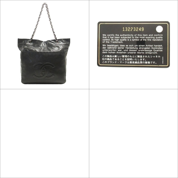 CHANEL 香奈兒 黑色荔枝紋牛皮肩背斜背包 【BRAND OFF】