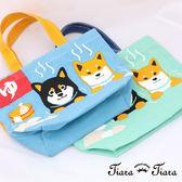 【Tiara Tiara】純棉柴犬富士山溫泉帆布袋(兩件組)