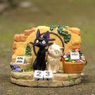 【發現。好貨】宮崎駿吉卜力魔女宅急便黑貓KIKI與白貓莉莉立體公仔擺飾 萬年曆 桌曆 龍貓