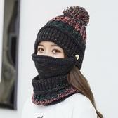 毛線帽女士冬天韓版潮牌百搭休閒針織帽冬季時尚保暖加厚騎車帽子